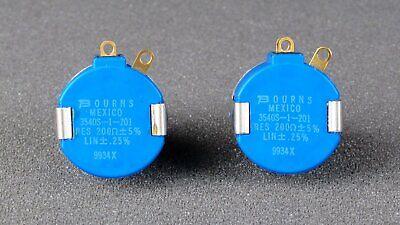 Bourns 3540s-1-201l 200 Ohm 10 Turn Precision Wirewound Potentiometer New