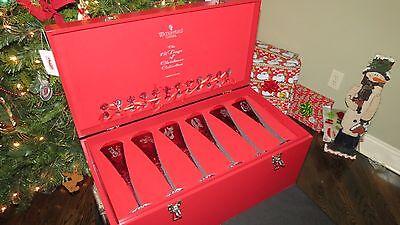 Waterford 12 Days of Christmas Flute BOX SET Crimson Brand New