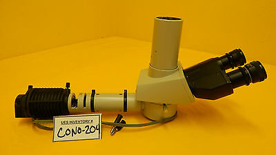 Nikon Trinocular Microscope Head With Illuminator Labophot Optiphot Series Used