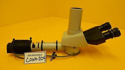 Nikon Trinocular Microscope Head With Illuminator Labophot Optiphot Series Used