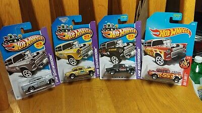 4 Hot Wheels 55 Chevy Bel Air Gassers
