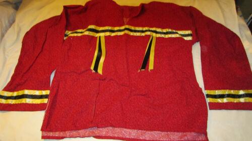 Vintage New Native American Regalia Ribbon Shirt L Wolf Point Montana