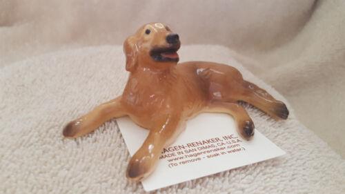 Hagen Renaker Dog Golden Retriever Lying Figurine Miniature Free Shipping 03376