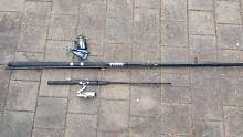 12 foot surf caster rod and reel + 6 foot rod and reel Black Forest Unley Area Preview