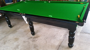 """Pool table slate top 9'×4'6"""" WALNUT STAIN Stafford Heights Brisbane North West Preview"""