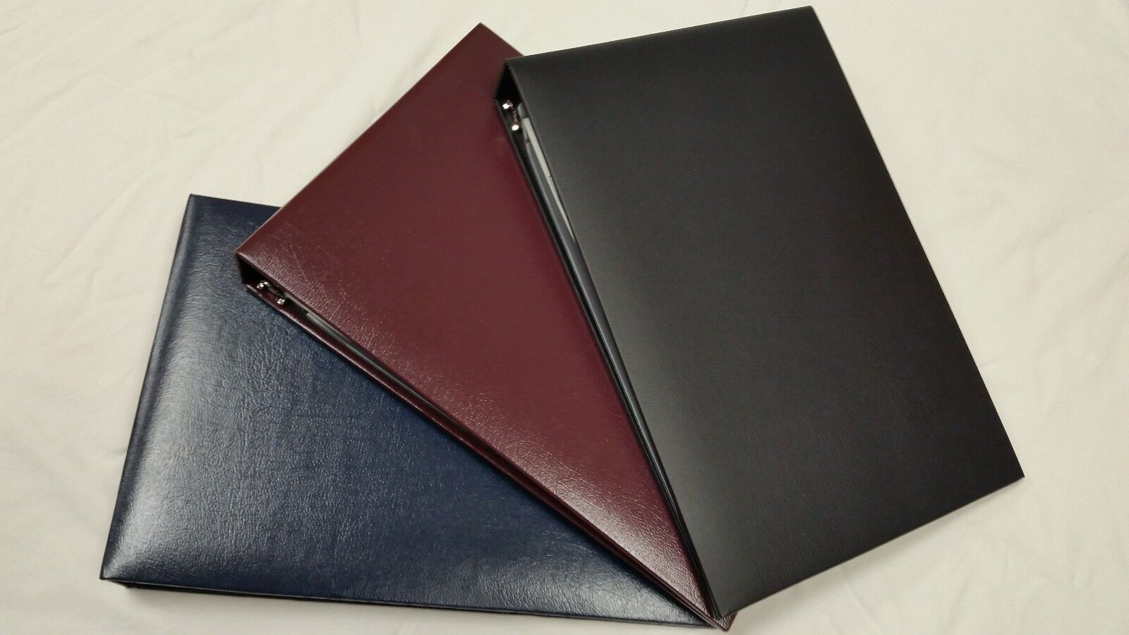 7-Ring 3-on-a-Page Business Check Book Binder - Black