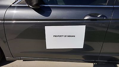 12x18 Blank Car Magnet Sign 30 Mil 2 Sheets - Machine Cut Rounded Corners.