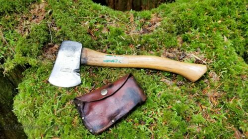 GENUINE PLUMB (USA) Boy Scouts Backpacking Woodsman Camping Hatchet With Sheath.