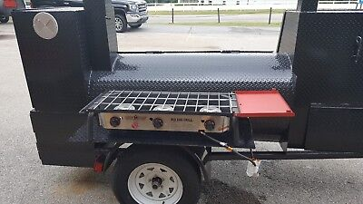 Camp Chef 3 Burners Bbq Smoker Catering Business 24 Grill Mobile Food Cart Truck