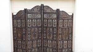 CARVED ROOM DIVIDER / PRIVACY SCREEN, VGC! Greenslopes Brisbane South West Preview