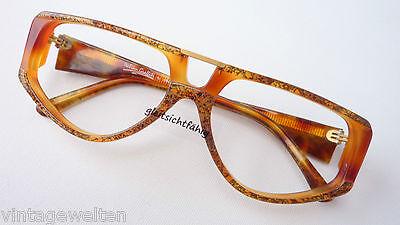 Brille Brillengestell breite Bügel Damen Fassung groß braun Vintage Größe M