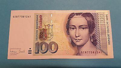 100 DM Schein 2. Januar 1996
