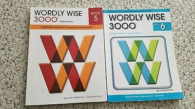 Wordly Wise 3000 Book 5, Book 6, and Spectrum math 6
