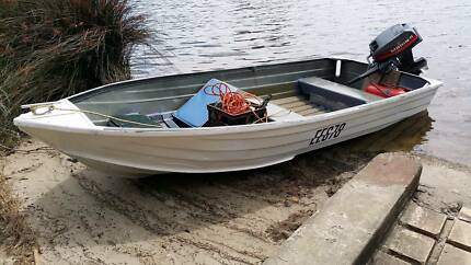 12ft dinghy and 15hp Mariner outboard