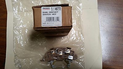New Ridgid Dual Contact Switch 1822 Cat46772