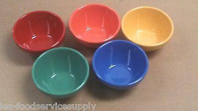 (5) BOUILLON BOWL CUP 8 OZ HEAVY MELAMINE Soup Salsa Side Dish Fruit 5 Colors