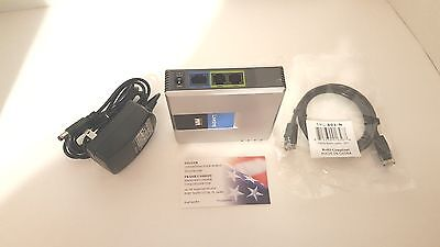 Unlocked Linksys Pap2t Voip Seller Refurb  Works With Google Voice Read Info