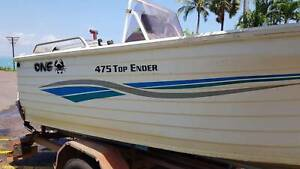 QUINTREX 475 TOPENDER with 60hp 4 stroke YAMAHA Outboard