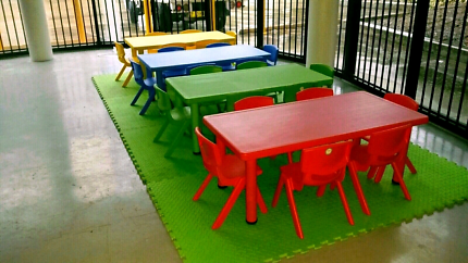 Kids table and chairs hire!