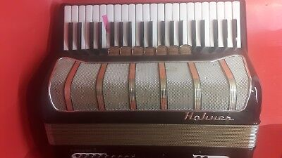 Used hohner pirolalllP.120 bass made in Germany