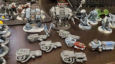 Warhammer 40k space marine / space wolf army lot