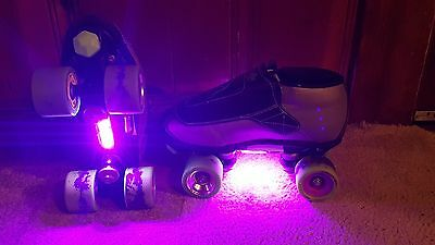 LED Strip Pink/Purple Bright Roller Jam Skate Lights Longboards, Inline, Bike