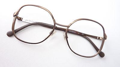 Marken Vintage Fassung Brillen Gestell Rarität 60 70er Jahre braun groß size S