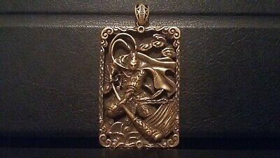 Copper carved buddha wu kong statue figure pendant