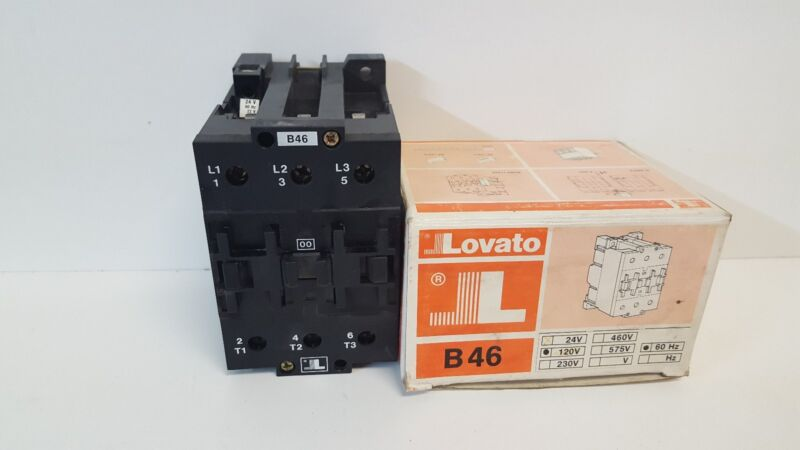 NEW OLD STOCK! LOVATO 90A 660V CONTACTOR TYPE B46 22/24VAC 50/60HZ COIL