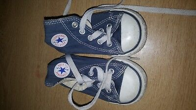 BABY TODDLER BOYS CONVERSE ALL STAR BASEBALL BOOTS SZ 4 + FREE PAIR NIKE SANDALS