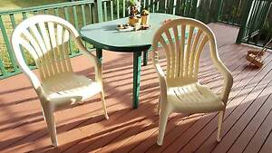 Garden table + 4 high back charis Eastwood Ryde Area Preview