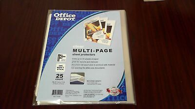Office Depot Multi Page Top Loading Sheet Protector - 25 Pk - Letter 8.50