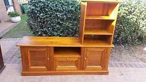Solid entertainment unit made of 100 year old recycled hoop pine Griffin Pine Rivers Area Preview