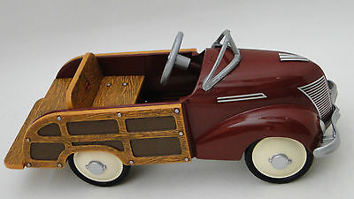 Pedal Car Woody Ford Wagon Rare 1940s Woodie Hot Rod Vintage Midget Metal Model