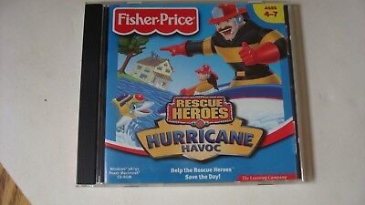 "Fisher-Price Rescue Heroes ""Hurricane Havoc"" CD-ROM 1999 Ages 4-7 Windows/Mac"
