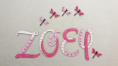 ❤️Holz Buchstaben 7cm, Kinderzimmer Tür Wand Wunschname Design Baby Kinder❤️ ()