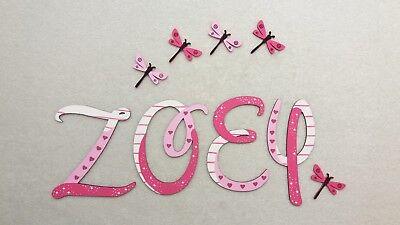 ❤️Holz Buchstaben 7cm, Kinderzimmer Tür Wand Wunschname Design Baby Kinder❤️
