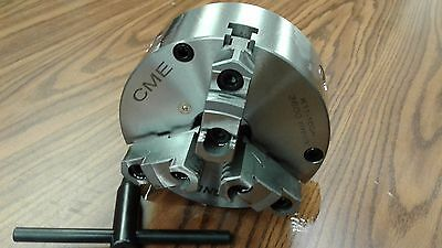 6 3-jaw Self-centering Lathe Chuck Front Mounting For Rotary Table 0603f0-fm