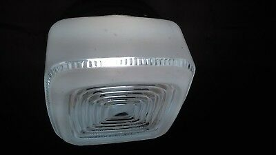 """MIDCENTURY MODERN KITCHEN / UTILITY /BATHROOM LIGHT 6""""X 6"""" SQUARE FROSTED """"CAKE"""""""