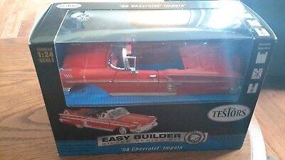 Easy Builder Silver Series Kit Skill 2 1:24 Scale '58 Chevrolet Impala NIB