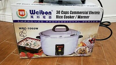 Brand New Welbon 30 Cups Commercial Electric Rice Cookerwarmer Wrc-1060w