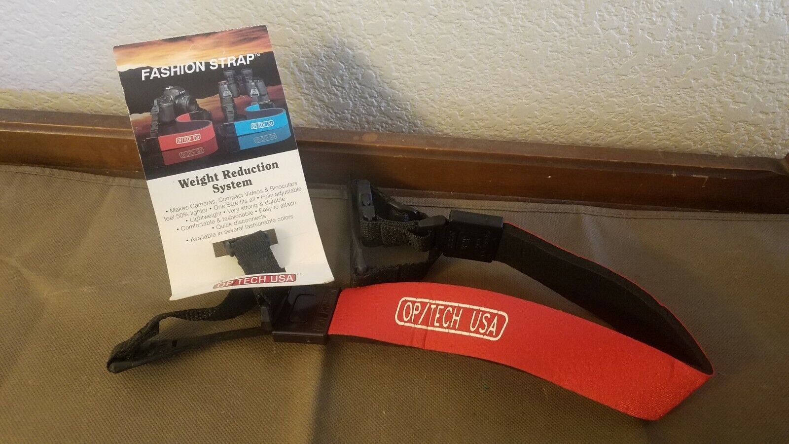 NOS OP/TECH USA Fashion Strap Weight Reduction Strap w/ Quic