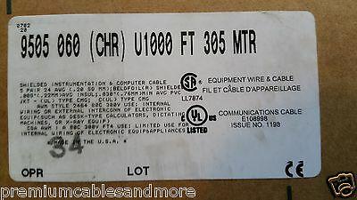 Belden Wire 9505 245p Twist Pair Shielded Rs-232 Instrumentation Cable 100ft