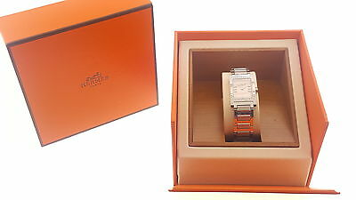 Ladies Hermes  TA1.230 Tandem Stainless Swiss Steel Diamond Quartz Watch