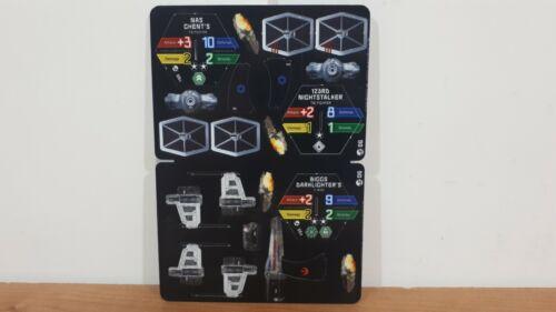 Star Wars PocketModel TCG Ship - Scum & Villainy X-Wing Tie Fighter Red Black 06