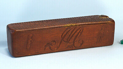 Relief Chip Carve Box Matias Woman Man Deer Norway Norwegian Scandinavia Sweden