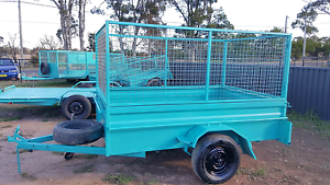 $50 ➰24HRS HIRE HIGH CAGE BOX 8X5 TRAILERS FOR RENT Kemps Creek Penrith Area Preview