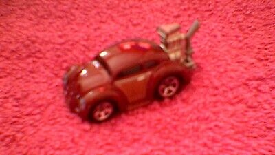 Hot Wheels - Unboxed - #004 Tooned Volkswagen Beetle - Metallic Burgundy & Gold