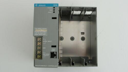 Gould 085E programmable controller 3 slot rack