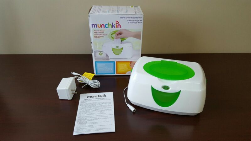 Munchkin Warm Glow Wipe Warmer Baby Infant Child Care - Excellent Condition!